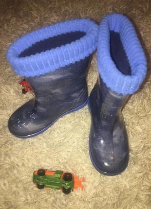 Demar резиновые сапоги синего цвета