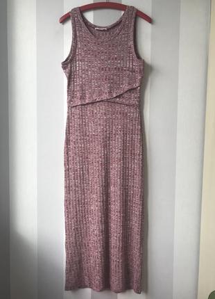 Длинное платье в рубчик ripe