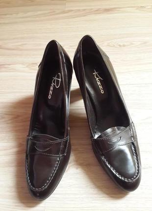 Итальянские туфли,лоферы,на удобном каблуке,vero cuoio