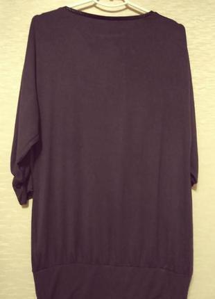 Модная трикотажная туника с кожаными вставками, размер 48-52 tcm tchibo