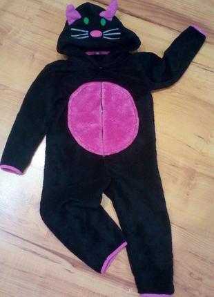 Домашний костюм кошечки, теплая пижама