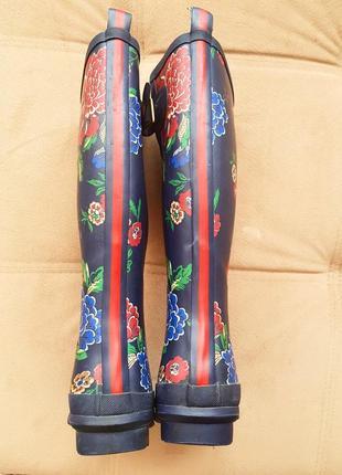 Резиновые сапоги в цветочный принт4