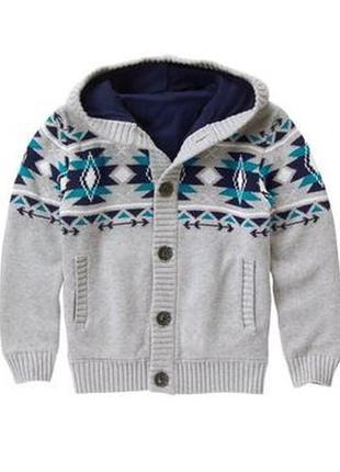 Кофта свитер для мальчика 7-9 лет gymboree