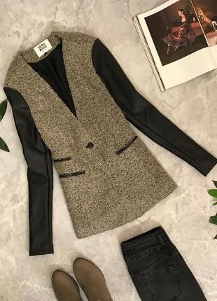 Жакет с рукавами из искусственной кожи  jc1906060  vero moda