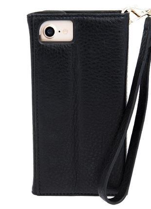 Чехол книжка кожаный casemate для iphone 6 6s 7 8   кожа 100%6 фото