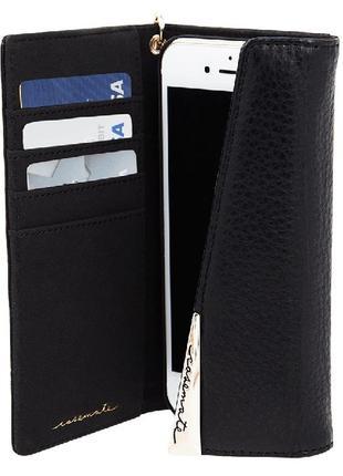 Чехол книжка кожаный casemate для iphone 6 6s 7 8   кожа 100%7 фото