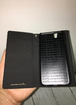 Чехол книжка кожаный casemate для iphone 6 6s 7 8   кожа 100%9 фото
