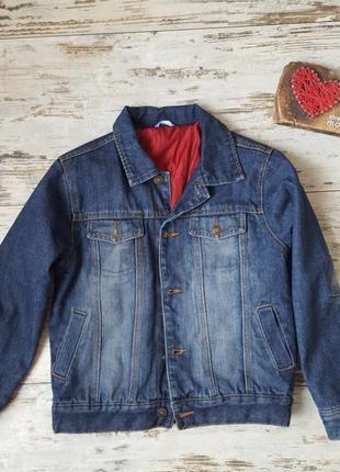 Теплая джинсовая куртка myc