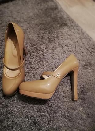 Туфли кожаные antonio biaggi, 39 полный размер, с коробкой