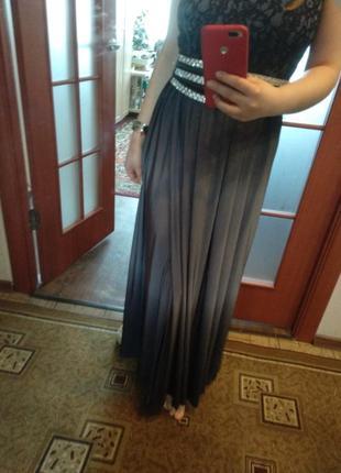 Вечернее платье с невероятным омбре