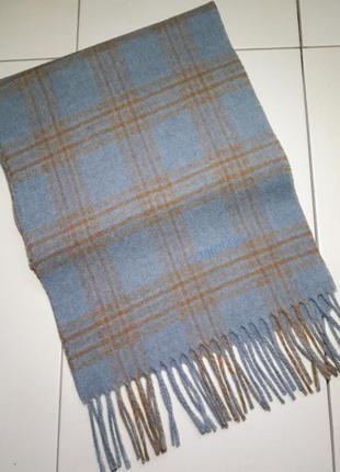Шерстяной шарф в клетку schneiders