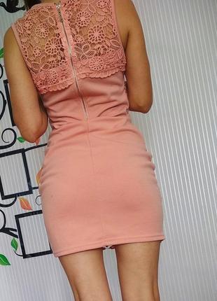Стильное платье цвета пудры
