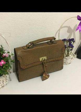 Кожаная сумка портфель