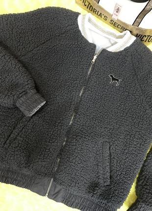 Шикарная двухсторонняя куртка victoria's secret pink.оригинал.