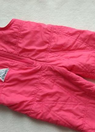 Демисезонный еврозима полукомбинезон штаны на флисе snow-line на 3 года рост 98 см