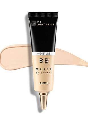 Увлажняющий bb крем a'pieu bb maker moisture spf30 pa++ - light beige