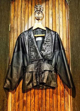 Настоящий винтаж! кожаная лакированная куртка the ronson collection