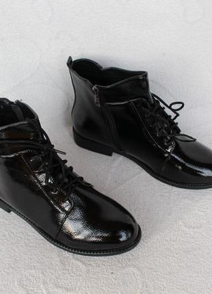 Демисезонные ботильоны, ботинки 40, 41 размера на низком ходу.