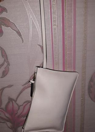 Белая косметичка, клатч в сумку zara