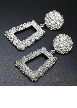 Крутые серьги гвоздики винтаж ретро сережки круг