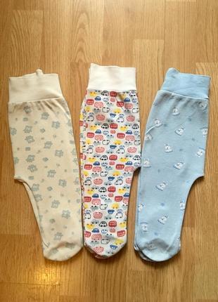 Детские ползунки для малыша фламинго, татошка, комплект, размер 68-74