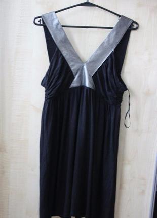 Платье короткое черное с серебристым topshop