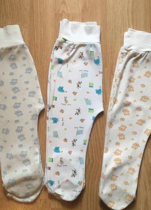 Детские ползунки для малыша фламинго, татошка, комплект, размер 74-80