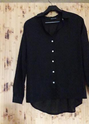 Шикарная полупрозрачная блуза рубашка р 42
