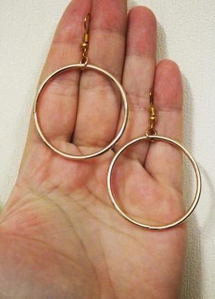 Крутые серьги гвоздики в стиле минимализм геометрия сережки золотистый кольцо
