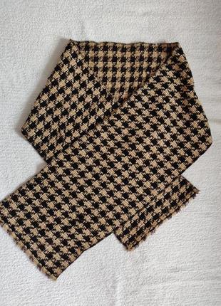 Теплый шарф клетка осень-зима