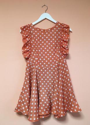 d0d38dd8b685ace Персиковые платья в горошек 2019 - купить недорого вещи в интернет ...