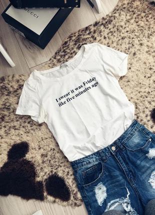 Базовая футболка с надписью