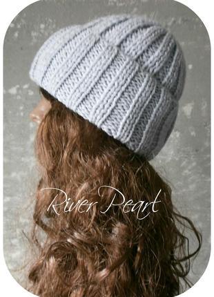 ❆ любая расцветка! хлопковая шапка с отворотом/цвета речной перламутр