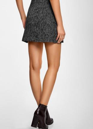 Серая мини юбка трапеция на пуговицах new look