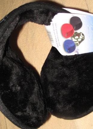 Чорні теплі навушники new design нові бірки