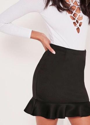 Классная плотная замшевая юбка 🖤
