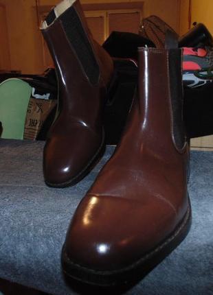 Ботинки туфли челси натуральная кожа samuel winsdor оригинал размер 43 по стельке 27.5 см