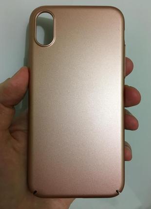 Тонкий стильный чехол для iphone x xs
