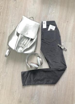 Джинсы серые calvin klein jeans женские оригинал вельветки вельветовые размер 4*32