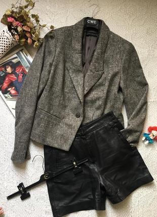 Шикарный классический пиджак шерсть с шёлком /zara/ размер l