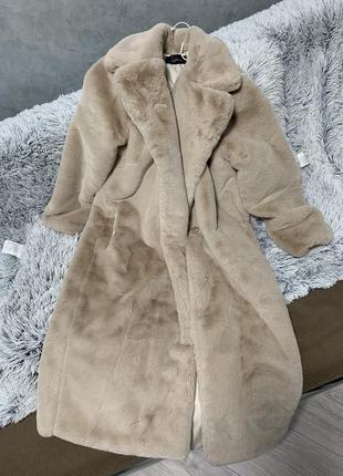 Шуба искусственная эко мех искусственный пальто кролик рекс
