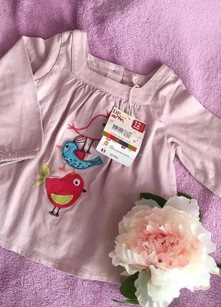 Фирменная блузка( туника) для девочки от dpambebe