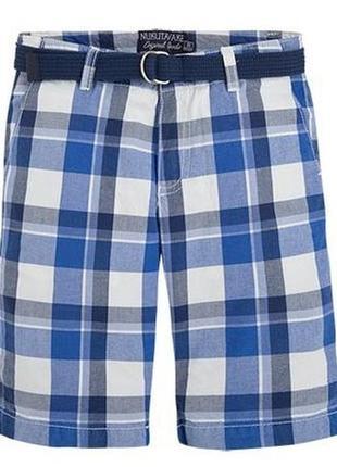 Новые синие шорты в клетку для мальчика 17-18 лет, mayoral, 6265