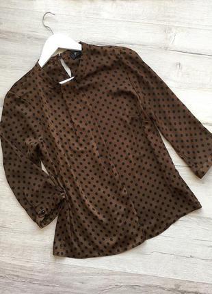 Нарядная шелковая блуза блузка кофта в горошек