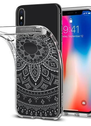Противоударный чехол для iphone x xs spigen liquid crystal shine оригинал новый