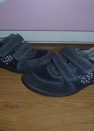 Кожаные, фирменные кроссовки для девочки1 фото
