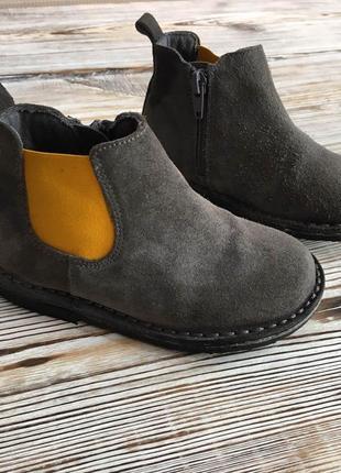 Демисезонные ботинки mango 24-25р uk7 по ст.16см.