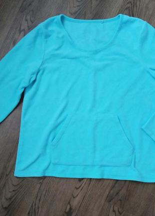 Мятный флисовый свитшот george, спортивная термокофта, теплая флиска