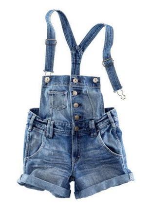 Шорты комбинезон  джинсовые для девочек от h&m