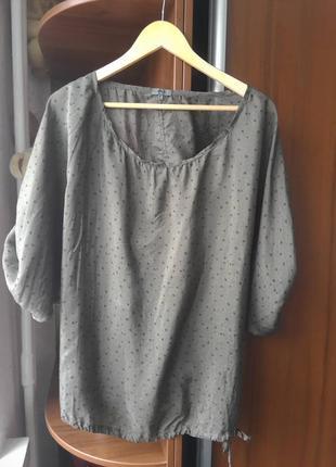 Супер стильная 100% шелковая блузка оверсайз nile